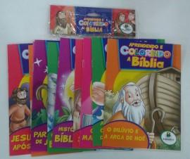Aprendendo e colorindo a Bíblia,com 10 livros