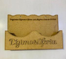 Porta envelope madeira  duplo dizimo e oferta