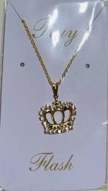 Kit corrente com pingente coroa