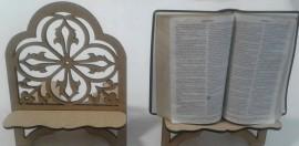 Porta Bíblia madeira Flor,cada