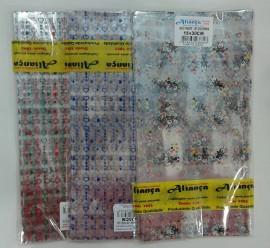 Saquinhos transparente decorado 15x30,c/100 pçs