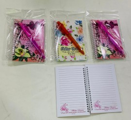 kit caderneta (mulher virtuosa) com caneta