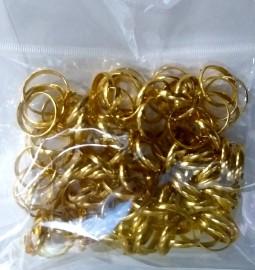 Aliança  dourada para campanha ,com 100 pçs