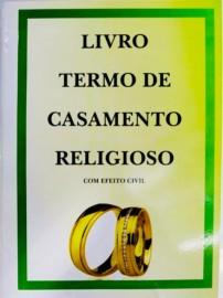 LIVRO TERMO DE CASAMENTO RELIGIOSO