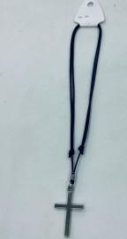 Kit cordão com regulagem ,com pingente cruz prata , cada