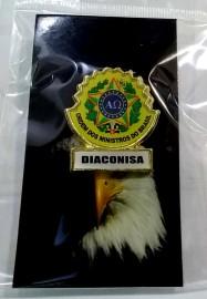 Boton especial com brasão,DIACONISA
