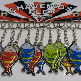 Chaveiro Chapinha Peixe,c/12 pçs