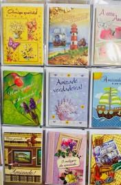 Cartão amizade com gliter,com com 27  pçs