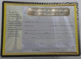 Certificado de Ordenação a Presbitero da igreja,cada