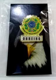 Boton especial com brasão,OBREIRO