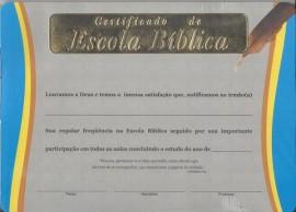 Certificado de Escola Bíblica,cada