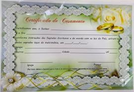 Certificado Casamento c/10 pçs