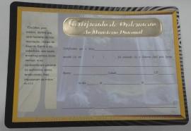 Certificado de ordenação ao ministério Diaconal,cada