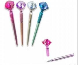 Caneta diamante cristal,com 10 pçs