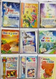 Cartão Bíblico com gliter, com 27 pçs