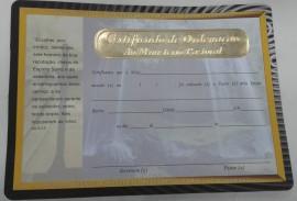 Certificado  de Ordenação de mistério pastoral,cada