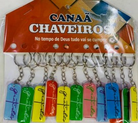 Chaveiro GRATIDÃO resina,com 12 pçs