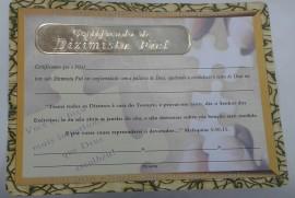 Certificado  de Dizismista Fiel,cada