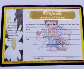 Certificado de apresentação de criança,(MENINO)