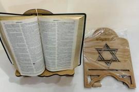 Porta bíblia madeira Estrela  de Davi,cada