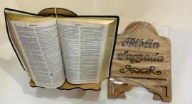 Porta Bíblia madeira Bíblia sagrada,cada