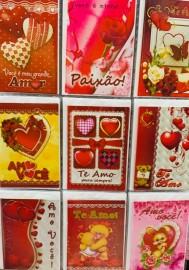 Cartão amor, com 27 pçs